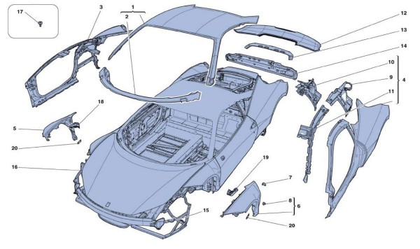 BODYSHELL - EXTERNAL TRIM