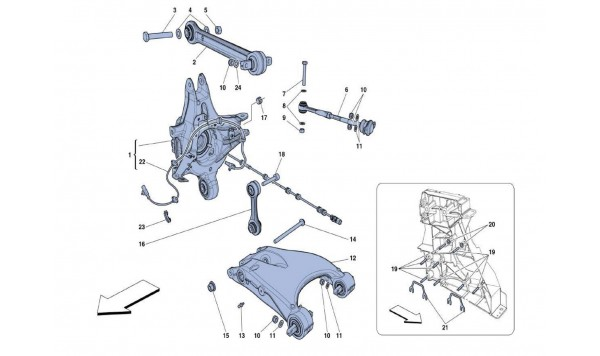 REAR SUSPENSION - ARMS