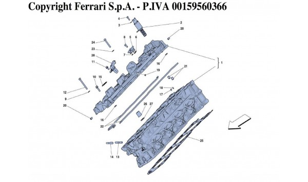 RIGHT HAND CYLINDER HEAD
