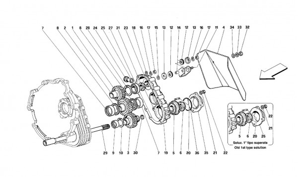Gearbox transmission