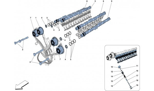 TIMING SYSTEM - CAMSHAFTS AND VALVES