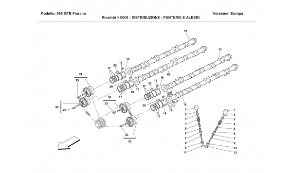 TIMING - TAPPETS AND SHAFTS