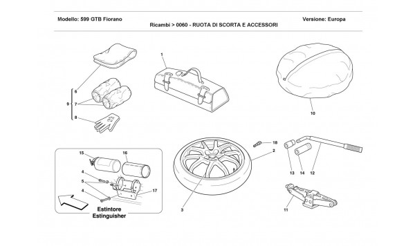 SPARE WHEEL AND ACCESSORIES