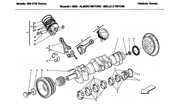 DRIVING SHAFT - CONNECTING RODS AND PISTONS