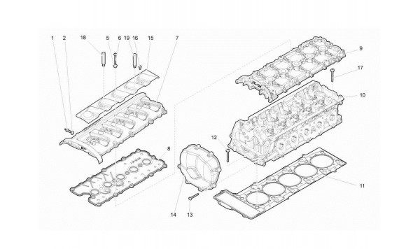 011 Right Cylinder Head And Cover 1-5