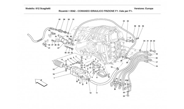 F1 CLUTCH HYDRAULIC CONTROL -Valid for F1-
