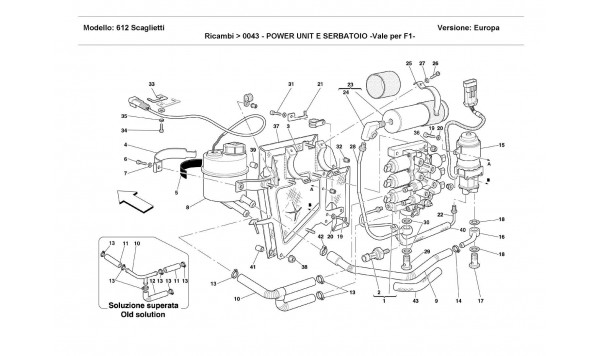 POWER UNIT AND TANK -Valid for F1 -