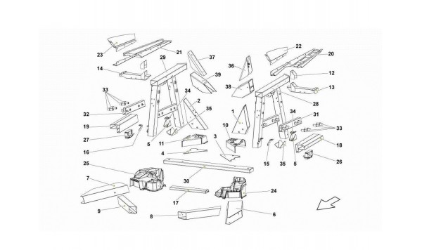 076 Rear Frame Elements
