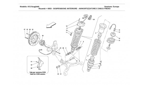 FRONT SUSPENSION -SHOCK ABSORBER AND BRAKE DISC