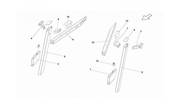 097 REAR FRAME ELEMENTS