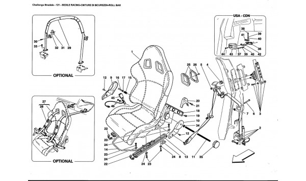 RACING SEAT-SAFETY BELTS-ROLL BAR