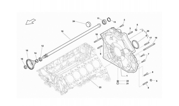 008 Timing Chain Cover - Propeller Shaft