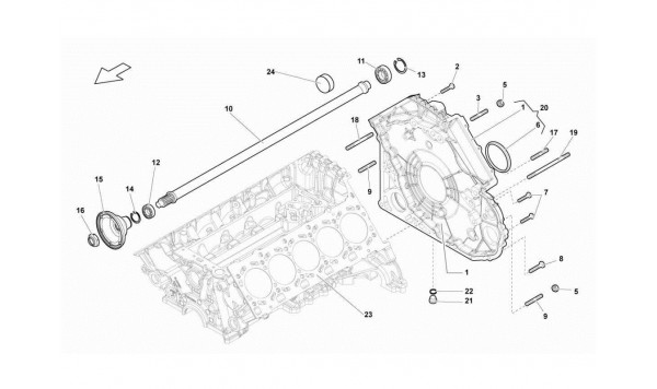 008 TIMING CHAIN COVER ? PROPELLER SHAFT