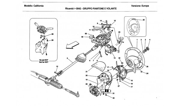 STEERING COLUMN ASSEMBLY AND STEERING WHEEL
