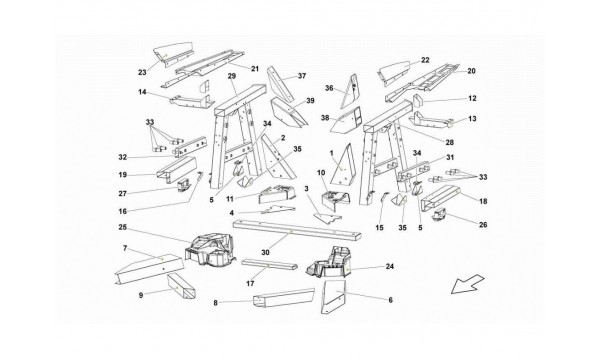 083 REAR FRAME ELEMENTS