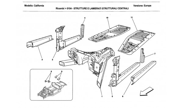 CENTRAL STRUCTURES AND CHASSIS BOX SECTIONS