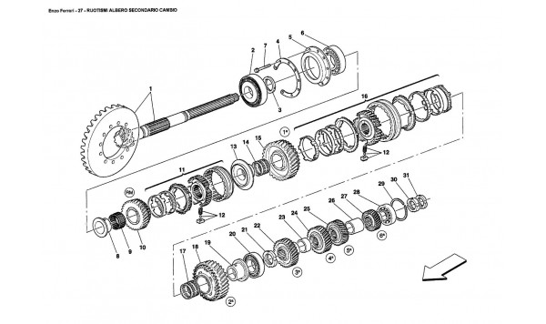 SECONDARY SHAFT GEARS
