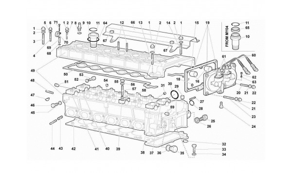 001 11.01.00-RIGHT CYLINDER HEAD