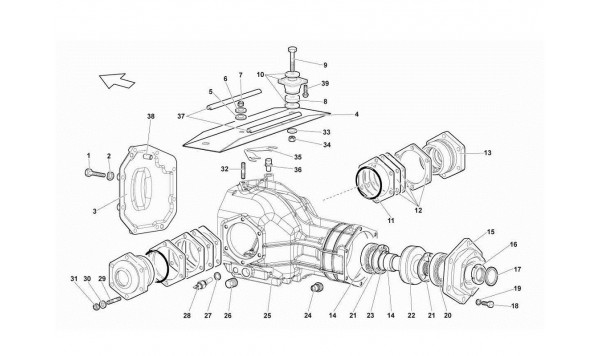 026 23.01 .OO-FRONT DIFFERENTIAL CASE