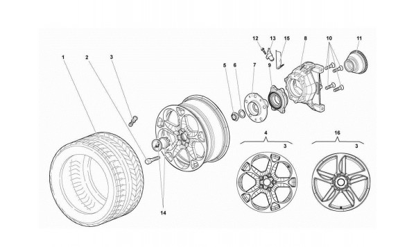 069 51.05.00-FRONT WHEEL AND HUB CARRIER