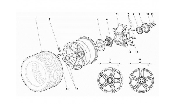071 52.03.00-REAR WHEEL AND HUB CARRIER