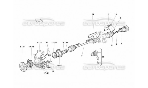 505 Rear Drive Shaft