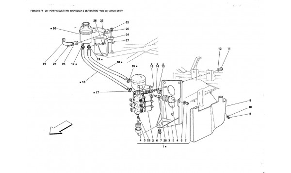 POWER UNIT AND TANK -Valid for 355F1 cars-