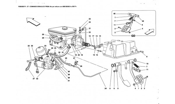 BRAKE HYDRAULIC SYSTEM -Not for ABS BOSCH and 355F1 cars-