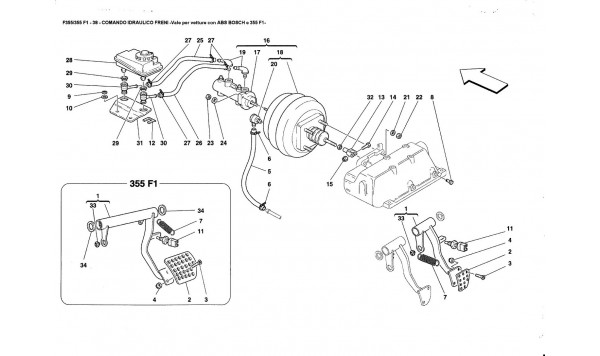 BRAKE HYDRAULIC SYSTEM -Valid for ABS BOSCH and 355F1 cars-