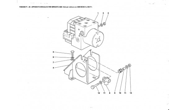 HYDRAULIC SYSTEM FOR ABS TEVES -Valid for ABS BOSCH and 355F1 cars-