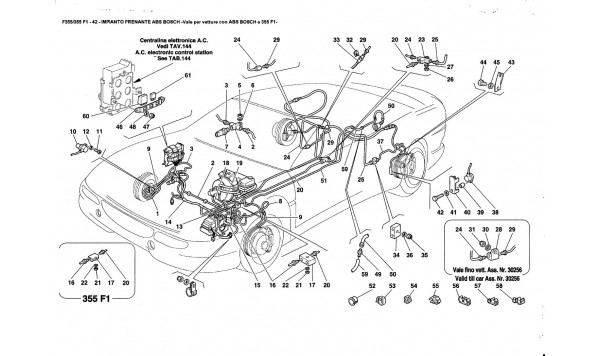 ABS BOSCH BRAKE SYSTEM -Valid for ABS BOSCH e 355F1 cars-