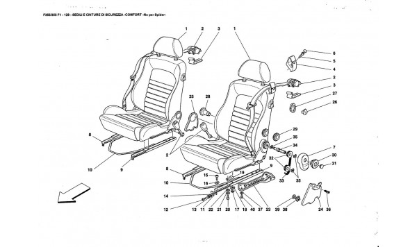 SEATS AND SAFETY BELTS -COMFORT-Nat far Spider-