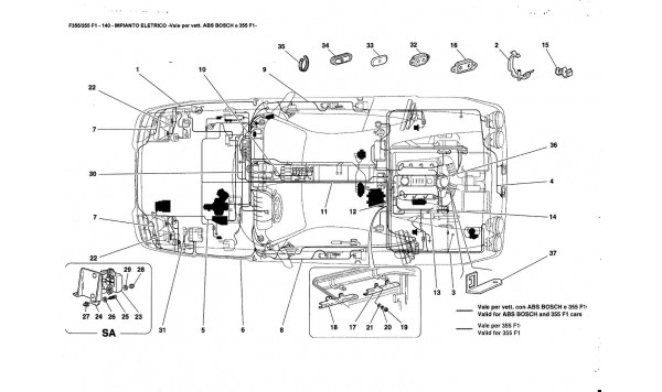 ELECTRICAL SYSTEM valid ABS BOSCH and 355F1 cars