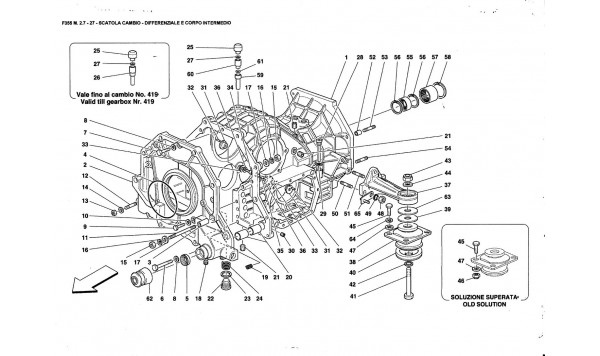 GEARBOX - DIFFERENTIAL HOUSING ANO INTERMEDIATE CASING