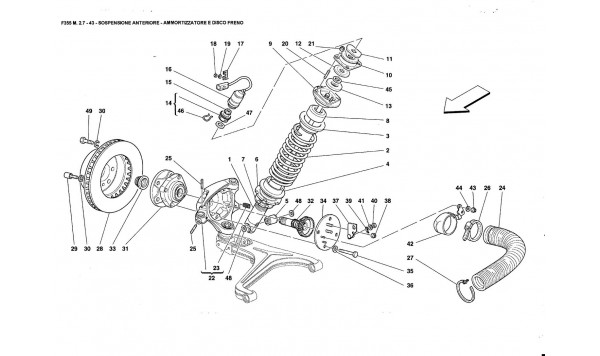 FRONT SUSPENSION - SHOCK ABSORBER ANO BRAKE DISC
