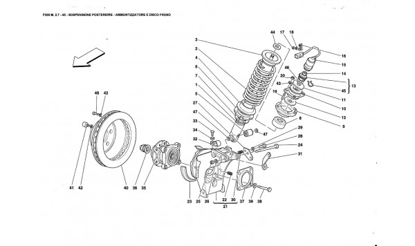 REAR SUSPENSION - SHOCK ABSORBER ANO BRAKE DISC