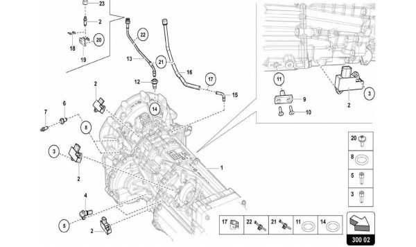 030 Gearbox Assembly - Sensors