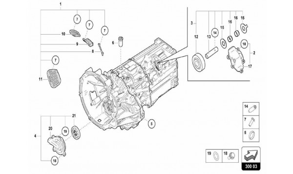 031 Gearbox Assembly - Outer Components