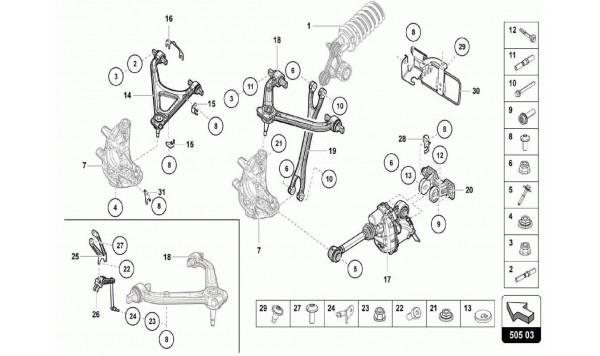 042 Rear Crosspiece - Suspension