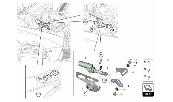 019 ACTUATOR - MOVABLE AIR INTAKE ASSEMBLY