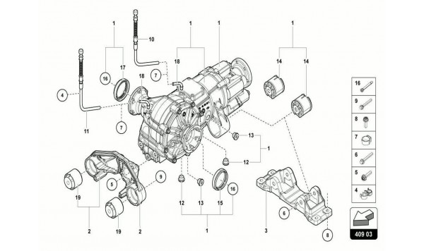 055 FRONT DIFFERENTIAL ASSEMBLY