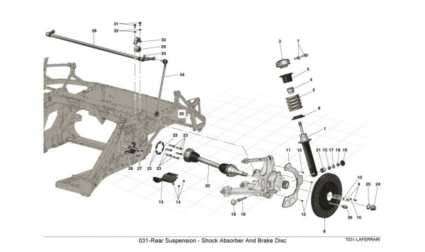 031-Rear Suspension - Shock Absorber And Brake Disc