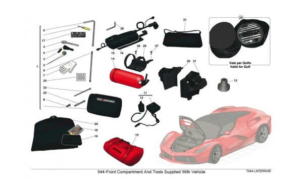 044-Front Compartment And Tools Supplied With Vehicle