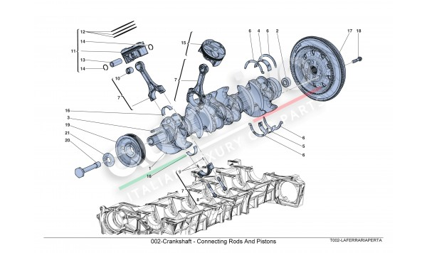 002-Crankshaft - Connecting Rods And Pistons