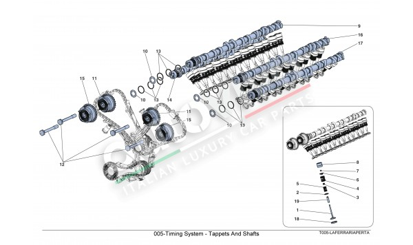 005-Timing System - Tappets And Shafts