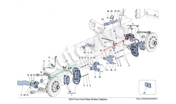 025-Front And Rear Brake Calipers