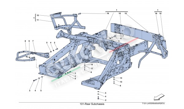 101-Rear Subchassis