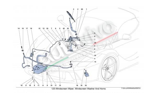 125-Windscreen Wiper, Windscreen Washer And Horns