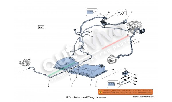 127-Hv Battery And Wiring Harnesses