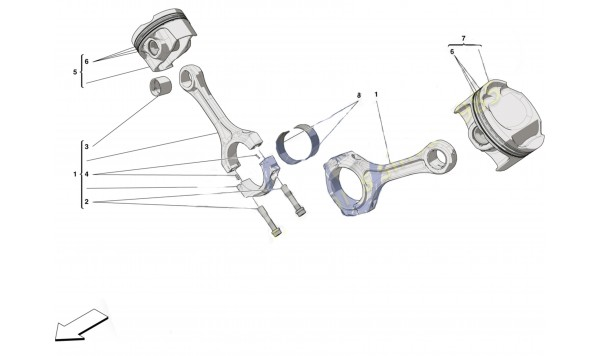 0008 PISTONS AND CONNECTING RODS